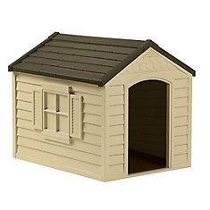 27-inch W x 35-inch D x 29.5-inch H Dog House
