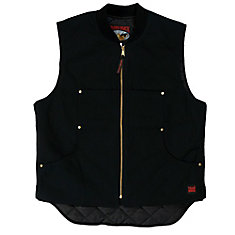 Quilted Lined Vest Black Small