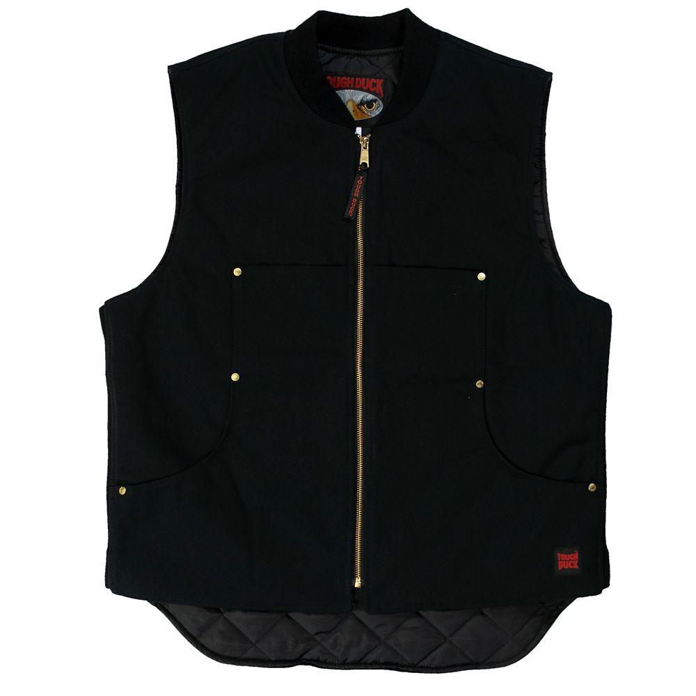 Quilted Lined Vest Black Large