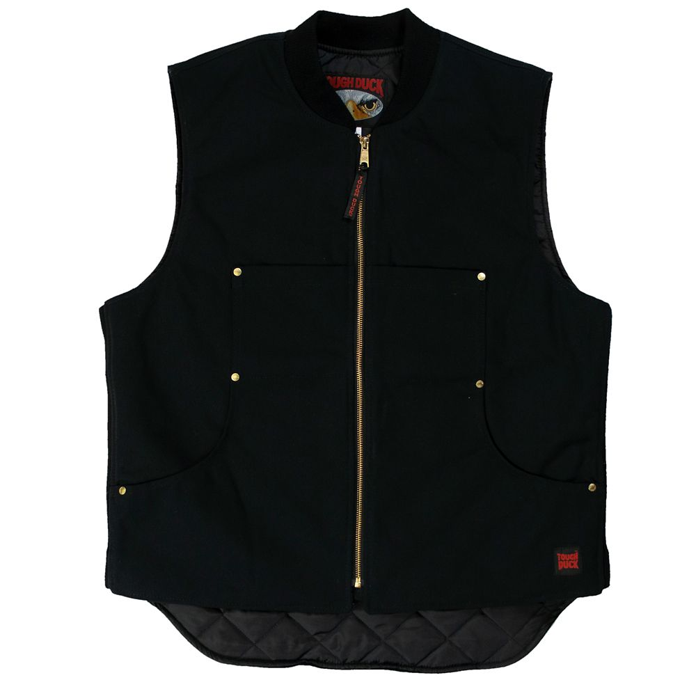 Quilted Lined Vest Black X Large