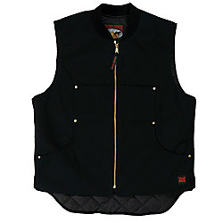 Tough Duck Quilted Lined Vest Black 2X Large