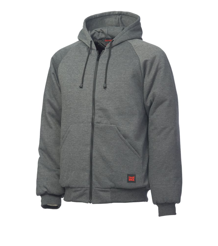 Hooded Jersey Bomber Charcoal Large