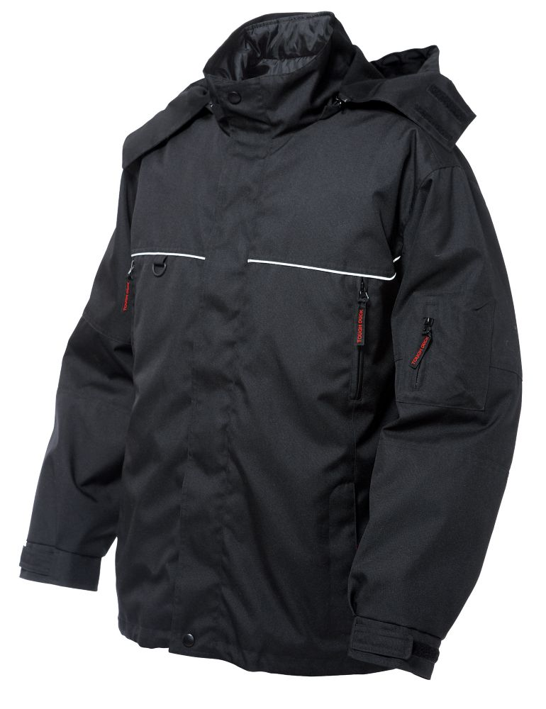 Poly Oxford Nylon 3-In-1 Jacket Black Medium