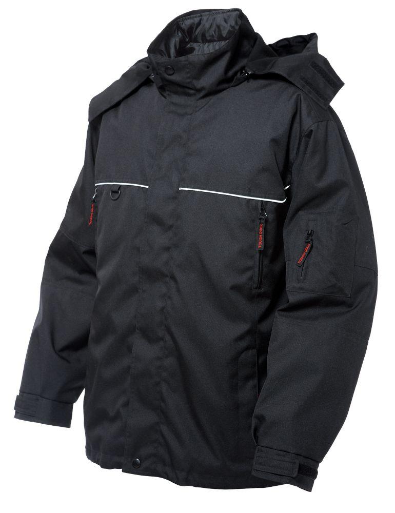 Poly Oxford Nylon 3-In-1 Jacket Black 3X Large