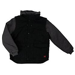 Tough Duck Duck Jacket W/Detach Sleeves/Hood Black Large