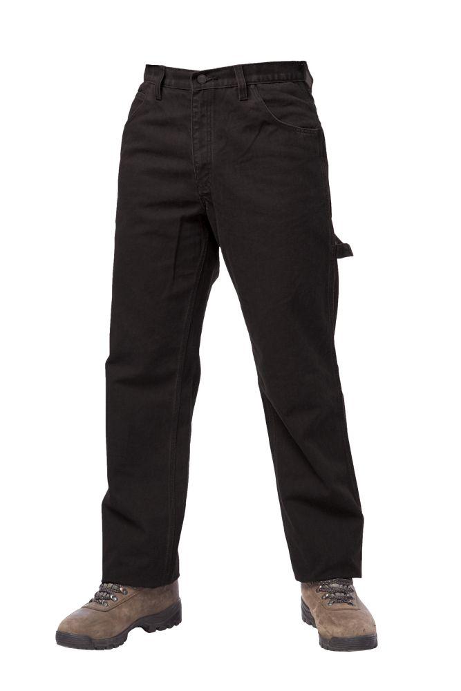 Pantalon de travail sans doublure� noir 34t-32l