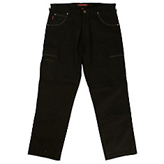 Stretch Twill Cargo Work Pant Black 38W X 32L