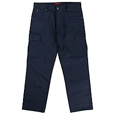 Stretch Twill Cargo Work Pant Navy 40W X 32L