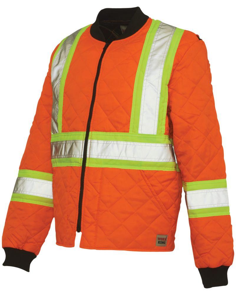 Blouson matelassé haute visibilité avec bandes réfléchissantes� orange tttg