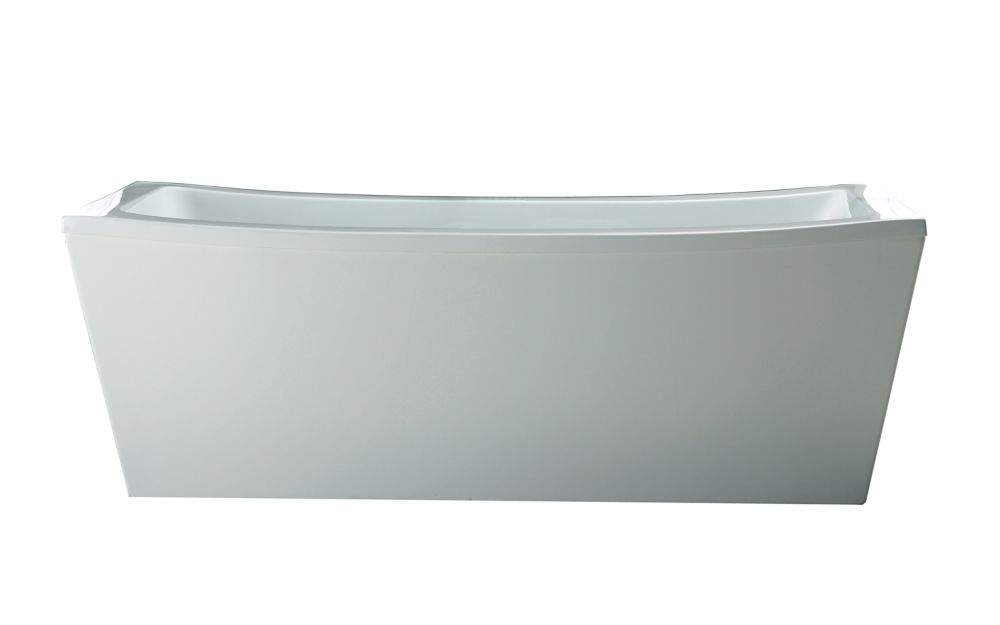 Terra 6 Feet Acrylic Freestanding Flatbottom Non Whirlpool Bathtub in White