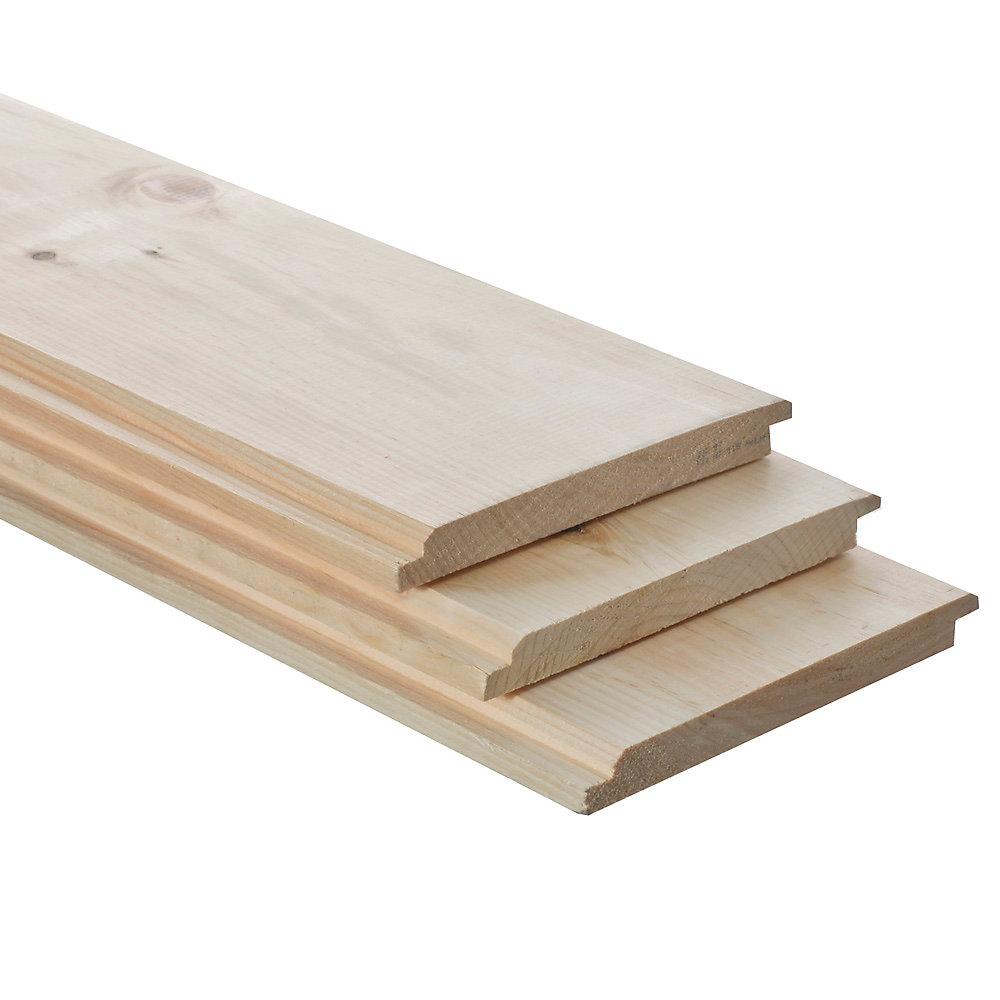 1x8x8  pin blanc noueux grange réversible