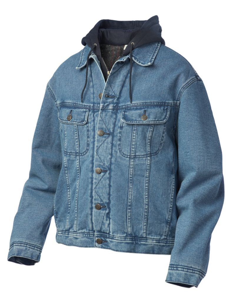 Jacket Blanket Lined/Fooler Hood Stonewash Large I6C711 DENIM L Canada Discount