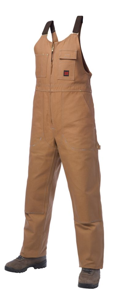Unlined Bib Overall Brown Small