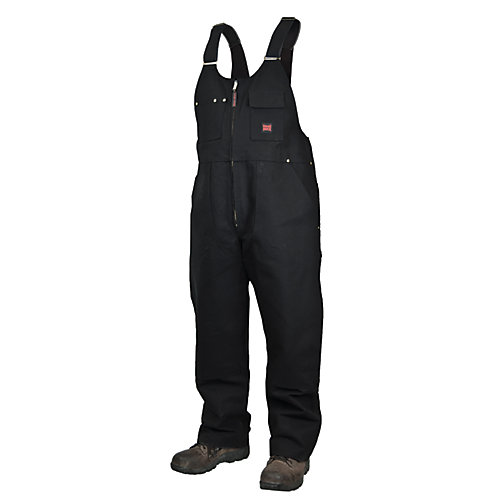 Unlined Bib Overall Black Large
