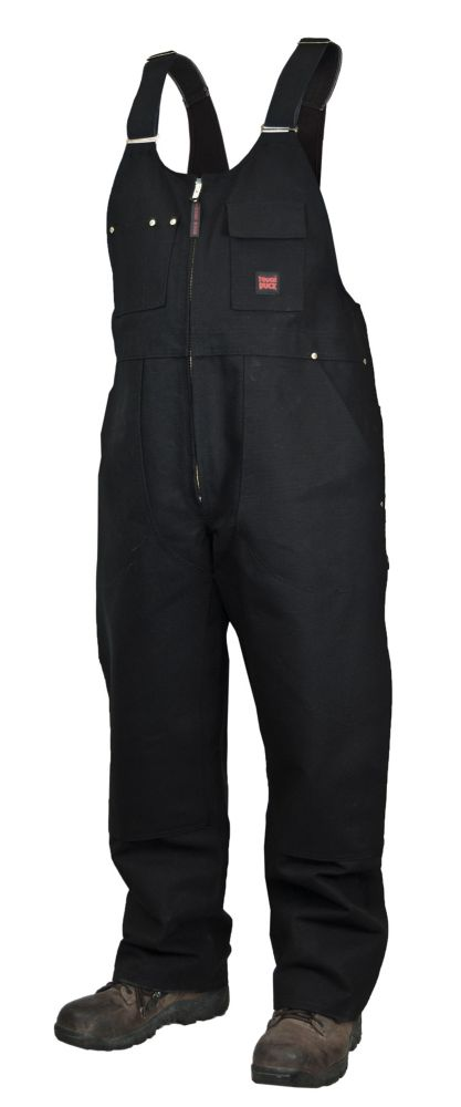 Unlined Bib Overall Black X Large