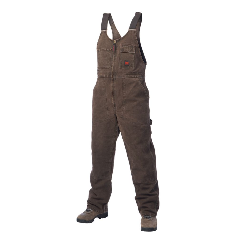 Washed Unlined Bib Overall Chestnut Small