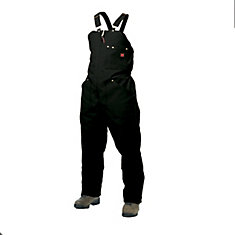 Insulated Bib Overall Black Large