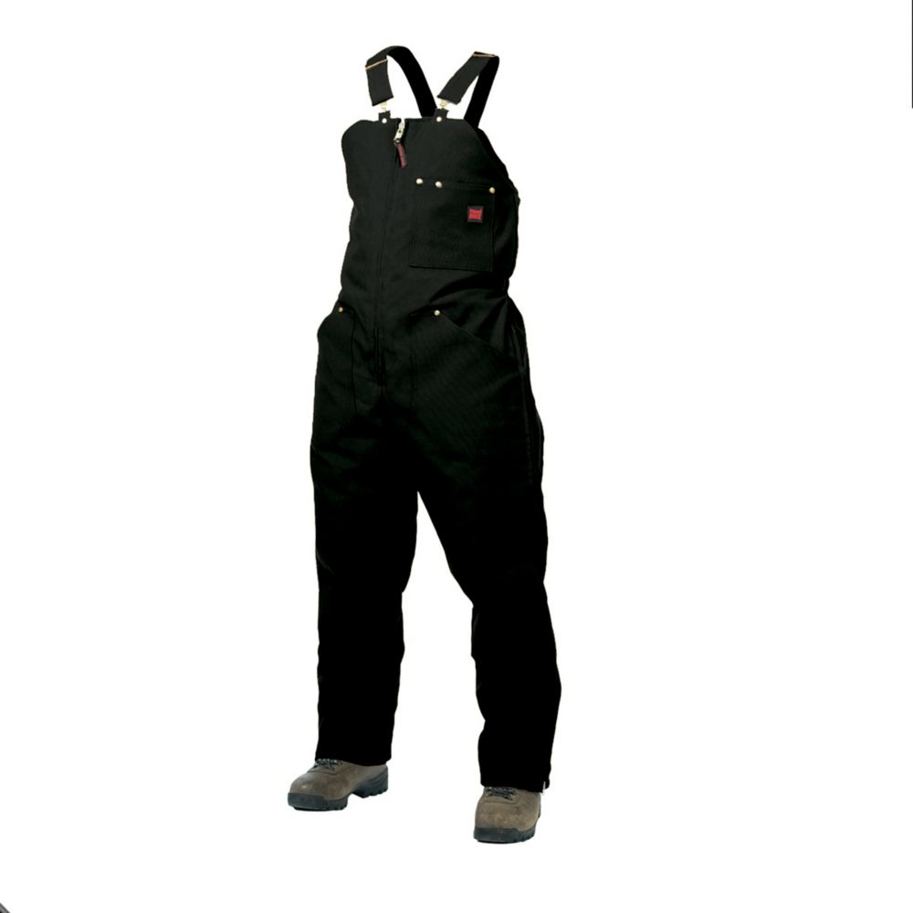 Insulated Bib Overall Black X Large