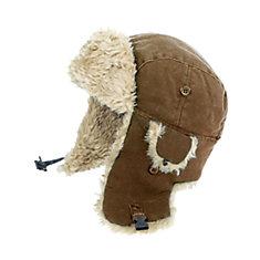 Chapeau daviateur en toile— brun p