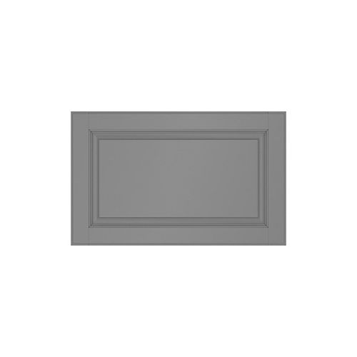 Eurostyle 15-inch x 15-inch Buckingham Painted Grey Raised Panel Drawer Front Door