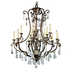 Bel Air Lighting Oiled Bronze 2 Tier Chandelier