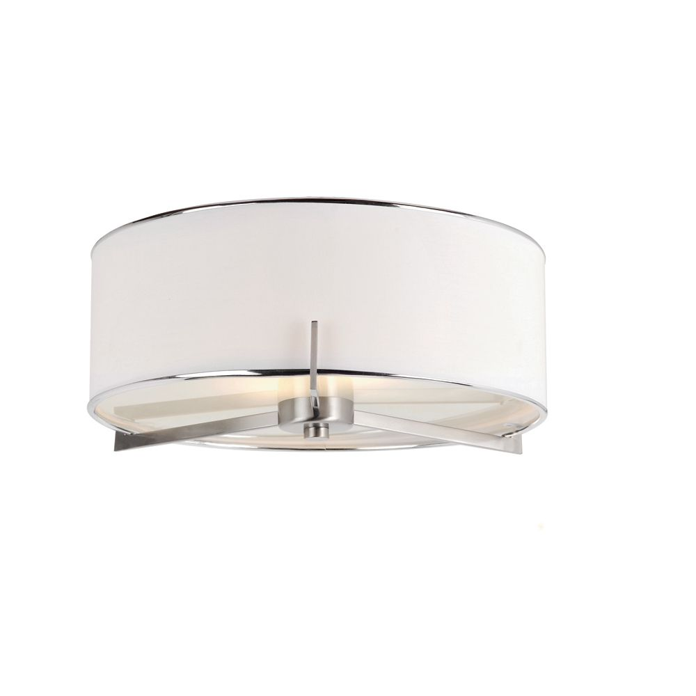 Hampton Bay Ceiling Light Fixtures: Hampton Bay 2 Ft. LED Linear Flushmount Ceiling Light