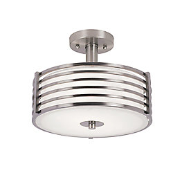 Bel Air Lighting Plafonnier de 30,48 cm (12 po) recouvert de nickel