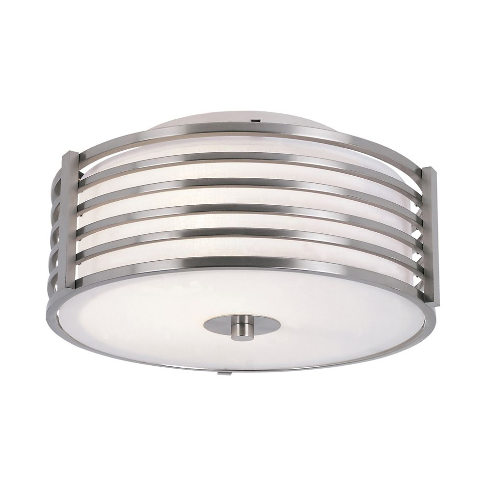 Nickel Wrapped 11 inch Ceiling Light