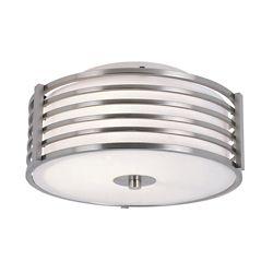 Bel Air Lighting Nickel Wrapped 11 inch Ceiling Light