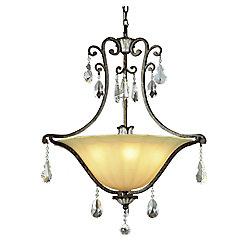 Bel Air Lighting Fleur and Crystal Pendant
