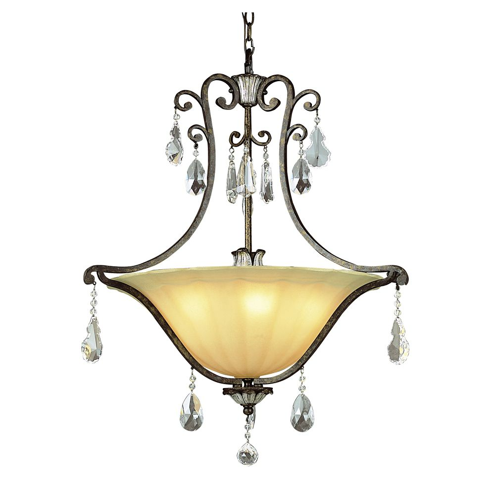 Bel Air Lighting Fleur and Crystal Pendant