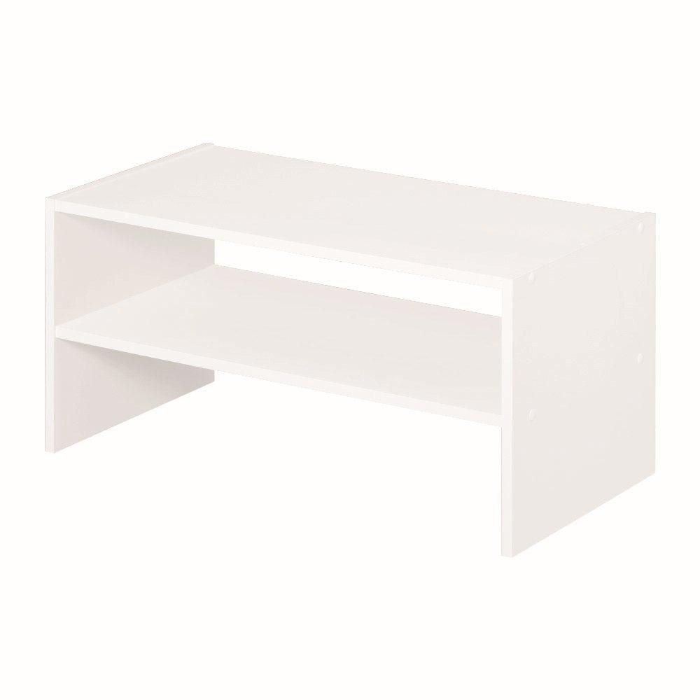 24 Inch Horizontal Organizer White