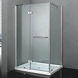 Jade Bath Porte de douche avec panneau de retour California II avec base 36 po x 48 po