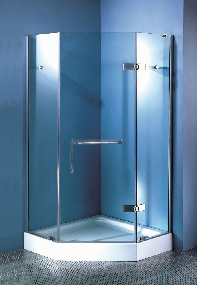 Cavern 40Inchx40Inch  Neo Angle Frameless Door (Base not Included)