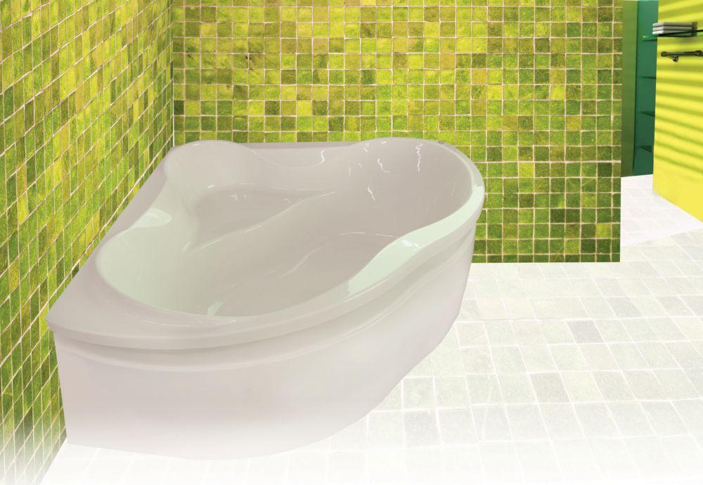 Harbour 4 Feet 6-Inch Corner Acrylic Bathtub