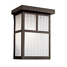 Luminaire de terrasse, en forme de boîte, noir, 22,86 cm (9 po)