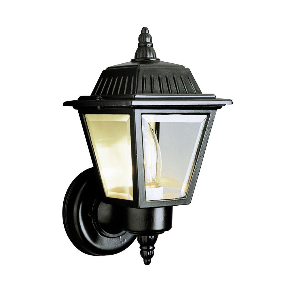 Bel Air Lighting Black Cap and Tail Wall Lantern