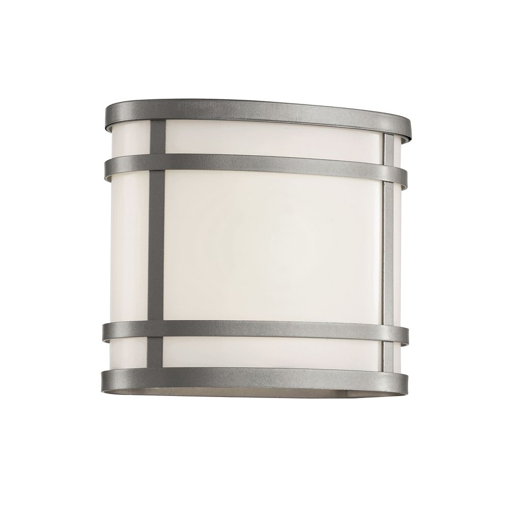 Silver Cross Frame Curved Patio Light
