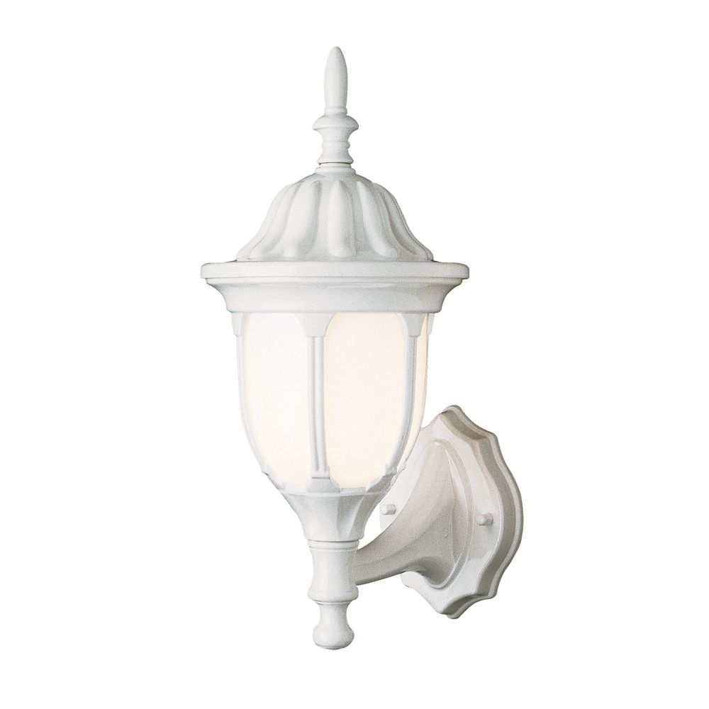 White with Opal Glass 13 inch Coach Light