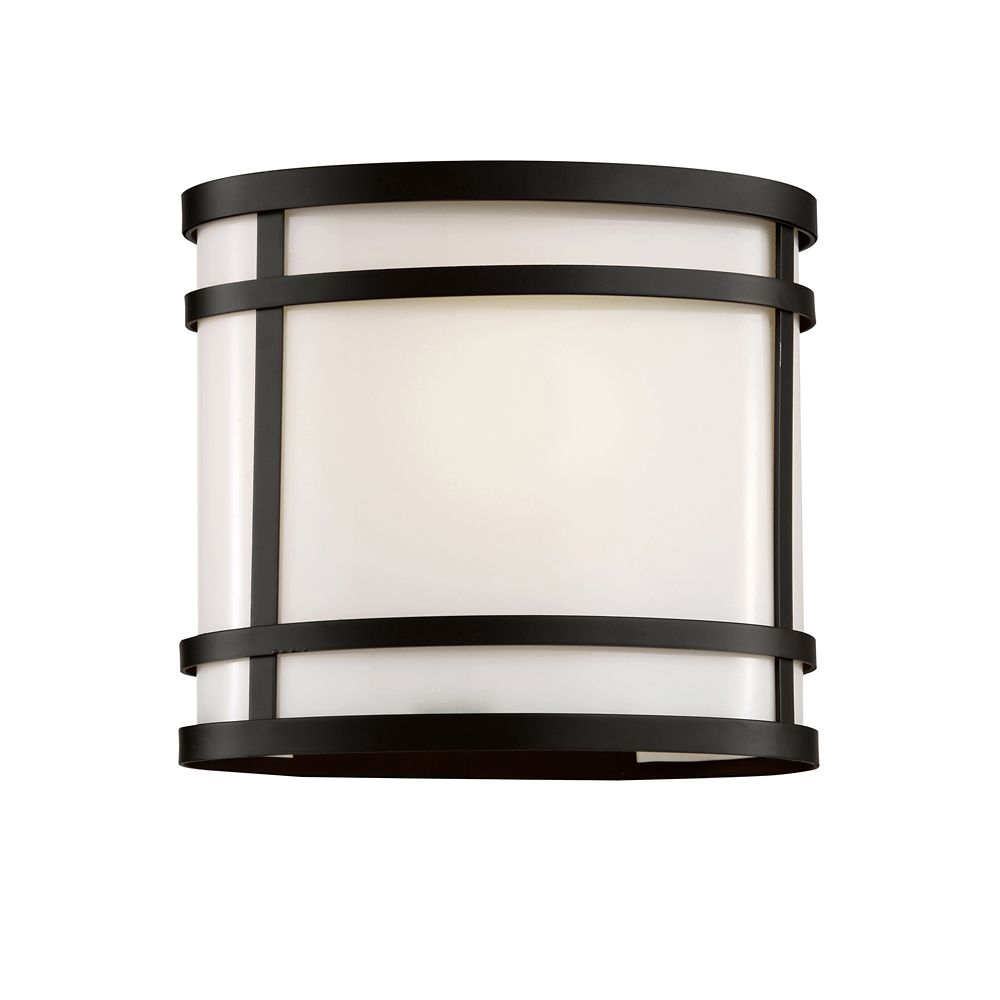 Black Cross Frame Curved Patio Light