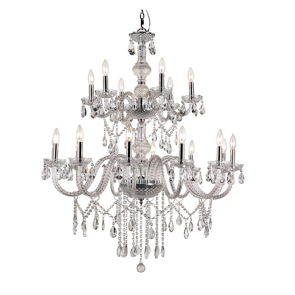 Braided Crystal Double Tier Chandelier