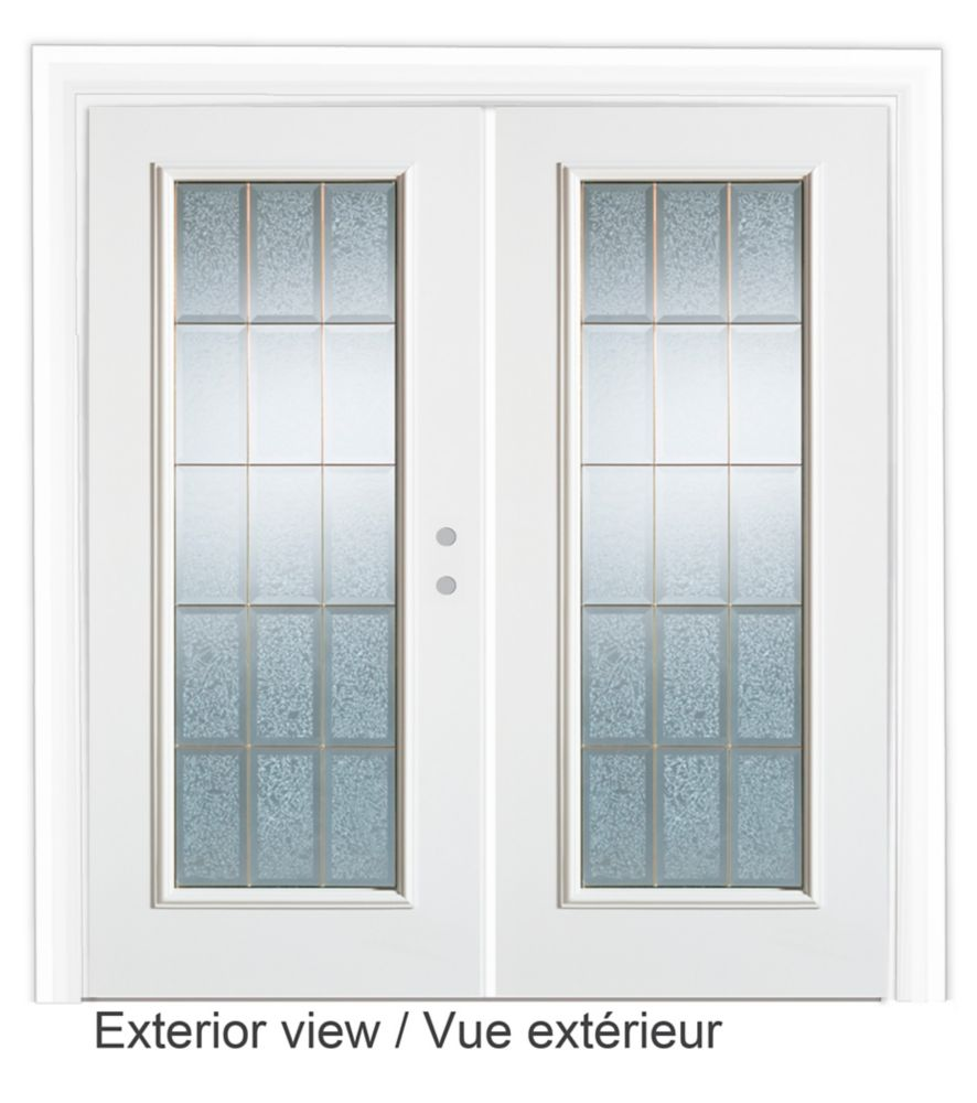 60-inch Decorative Glass Lefthand Garden Door