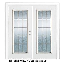 Stanley Doors Porte de Jardin 5 pieds avec verre décoratif-ouverture porte Gauche