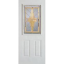 Stanley Doors Porte dentrée 34 po en acier peint, munie de deux panneaux et dun demi-verre - ENERGY STAR®