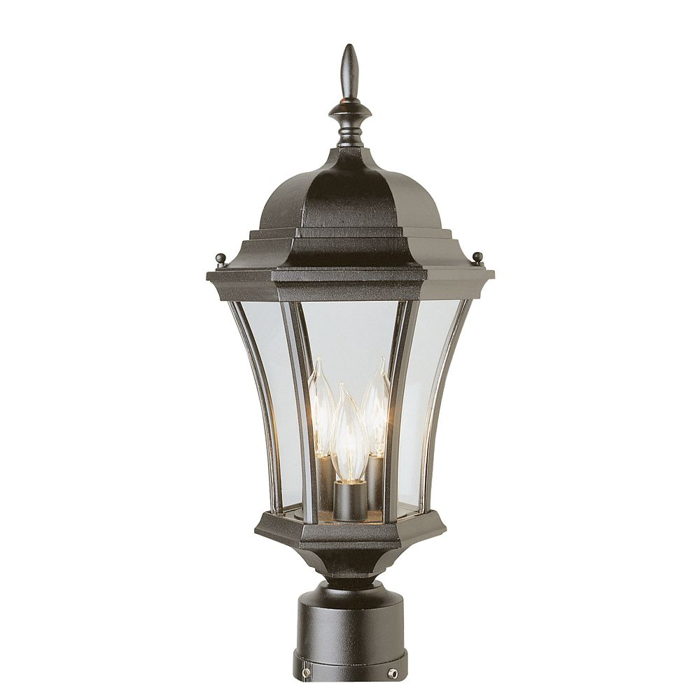 Decorative Glass Wall Lights : Hampton Bay Black with Curved Glass Decorative Wall Bracket Light The Home Depot Canada