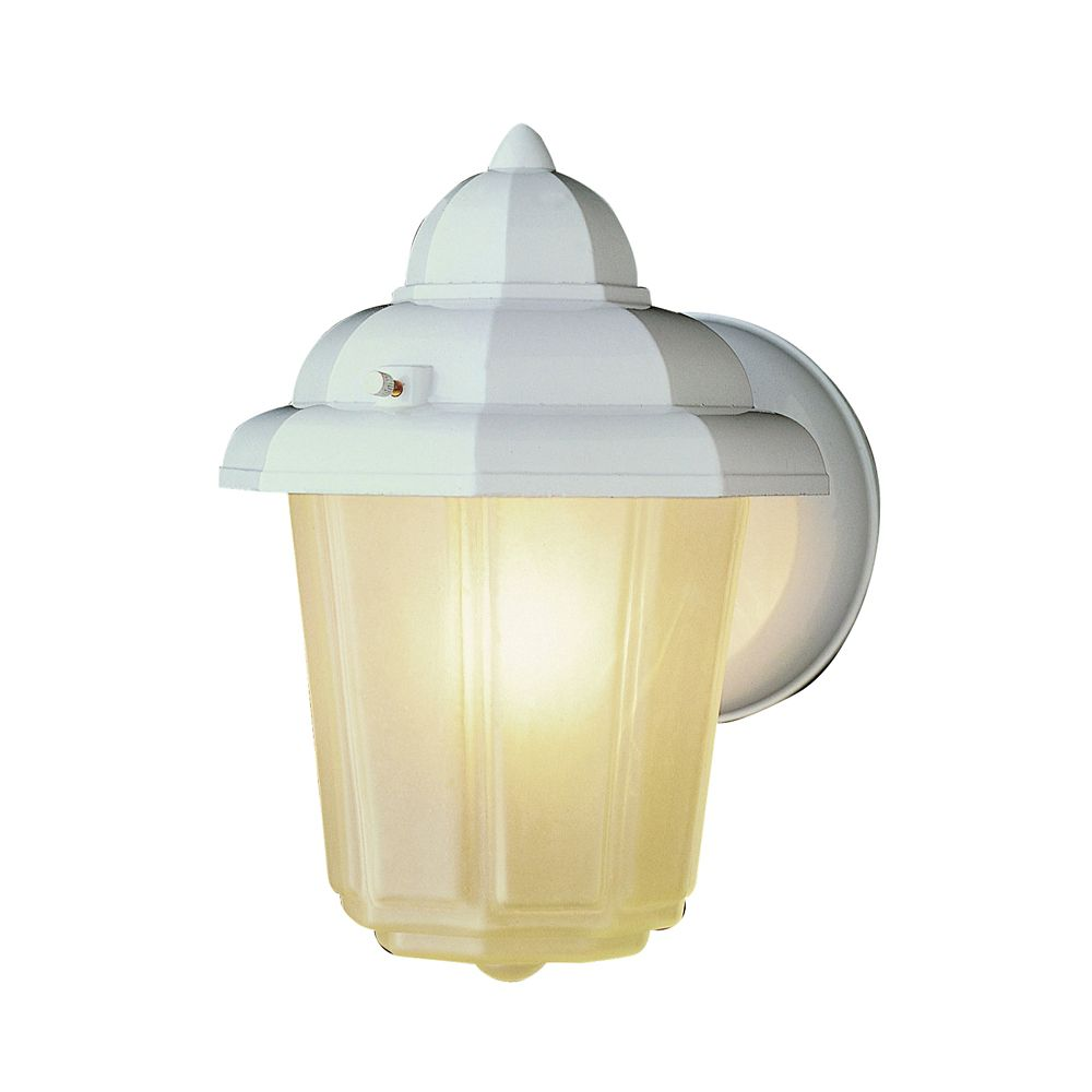 White Capped Patio Light