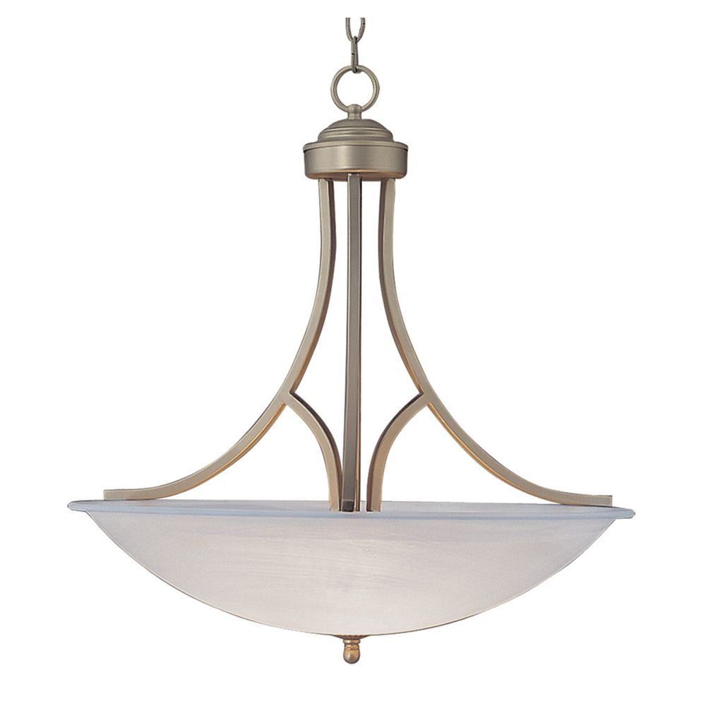Bel Air Lighting Cabernet 2-Light Brushed Nickel Incandescent Ceiling Pendant