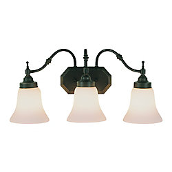 Bel Air Lighting Bronze Beveled 3 Light Vanity