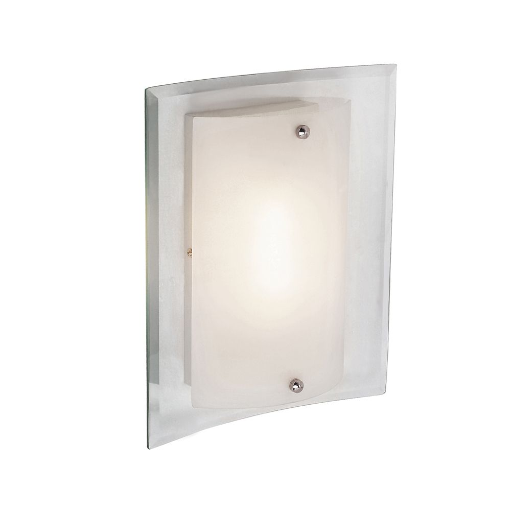 Clear Wall Plate and Frosted Cover 11 inch sconce