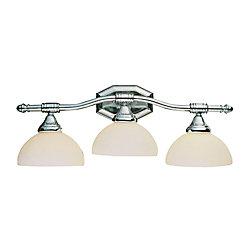 Bel Air Lighting Luminaire de lavabo à 3 lumières, arrondi, chrome